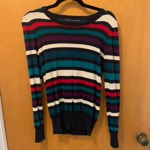 French Connection angora blend striped sweater